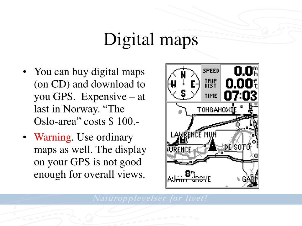 Digital maps