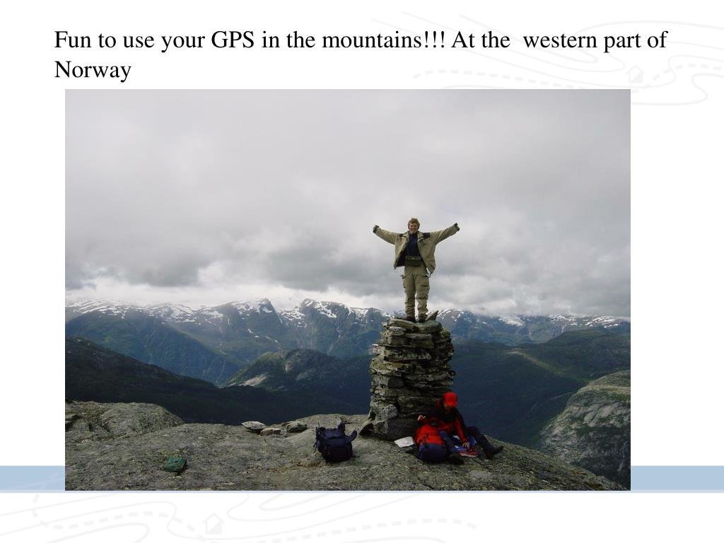 Fun to use your GPS in the mountains!!! At the  western part of Norway
