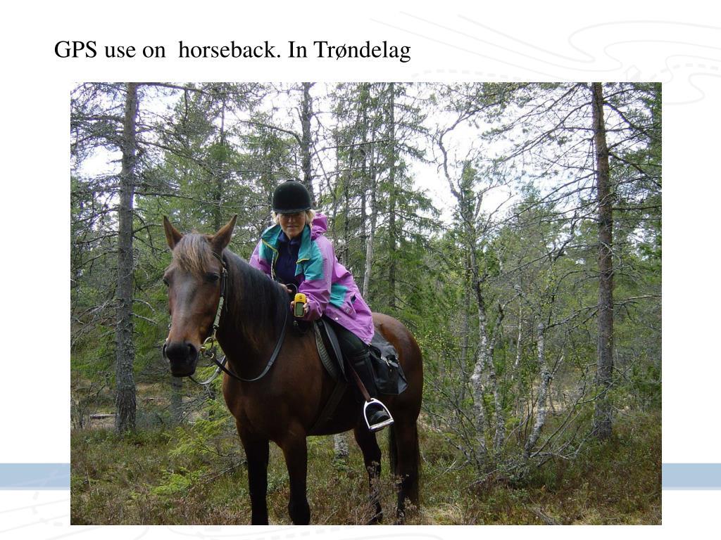 GPS use on  horseback. In Trøndelag