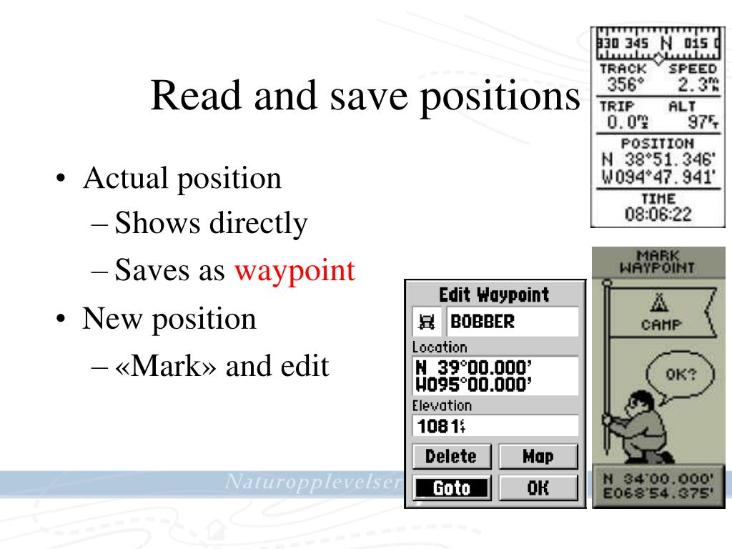 Read and save positions