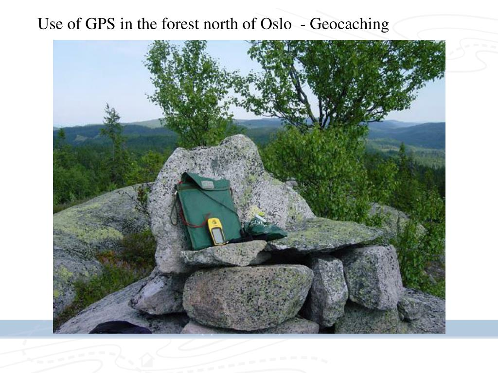 Use of GPS in the forest north of Oslo  - Geocaching