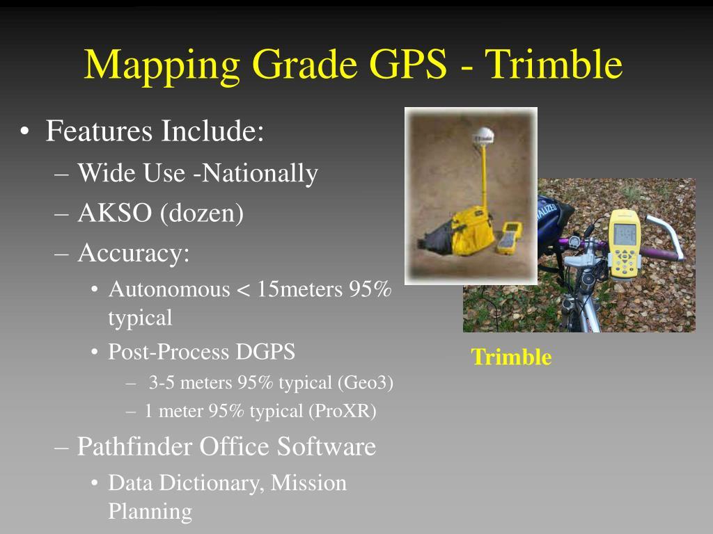 Mapping Grade GPS - Trimble