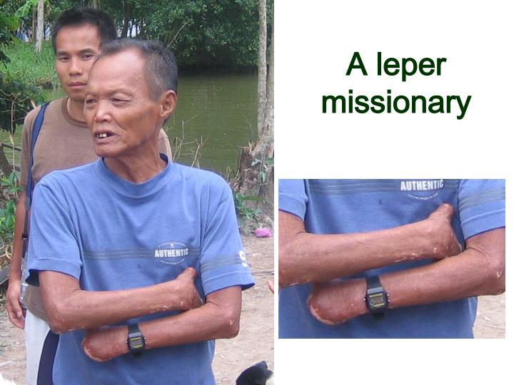 A leper missionary