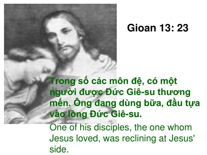 Gioan 13: 23