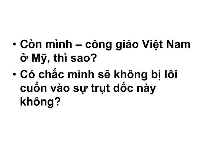 Còn mình – công giáo Việt Nam ở Mỹ, thì sao?