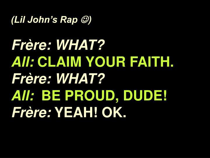 (Lil John's Rap