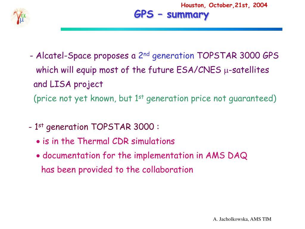 GPS – summary