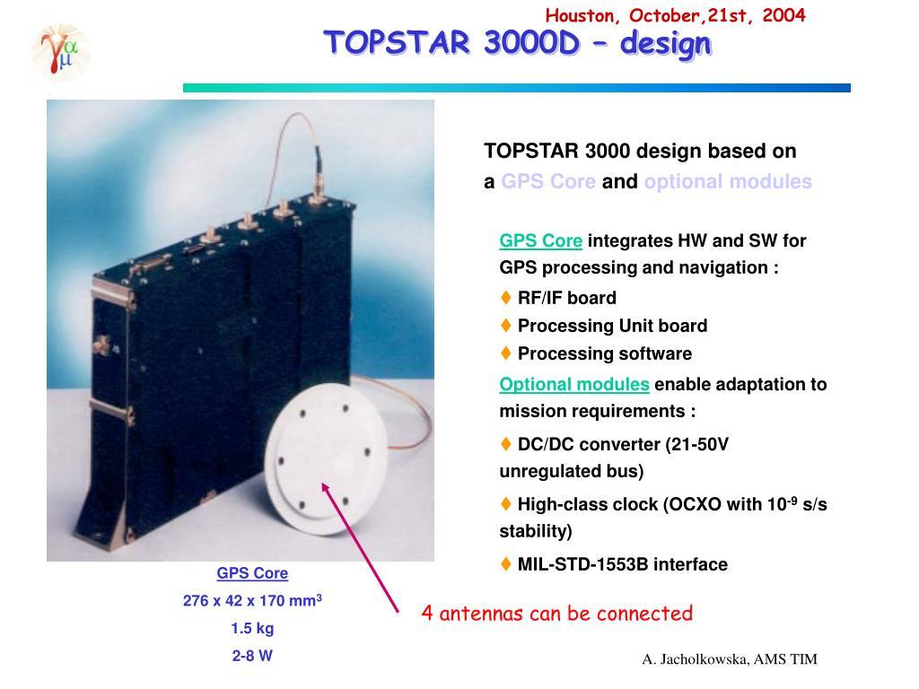 TOPSTAR 3000D – design
