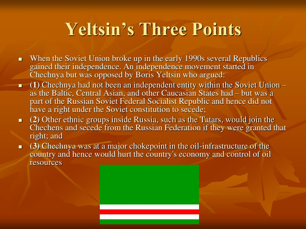 Yeltsin's Three Points