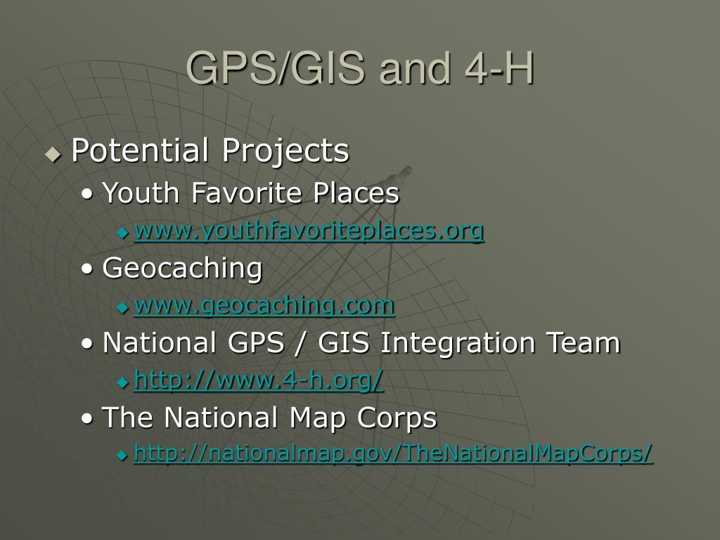 GPS/GIS and 4-H