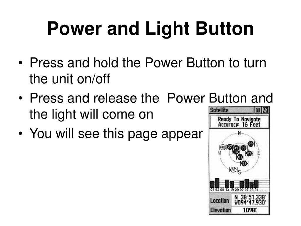 Power and Light Button