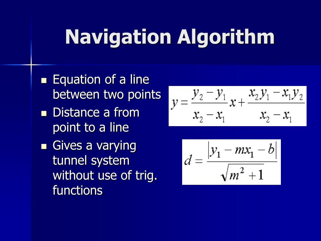 Navigation Algorithm