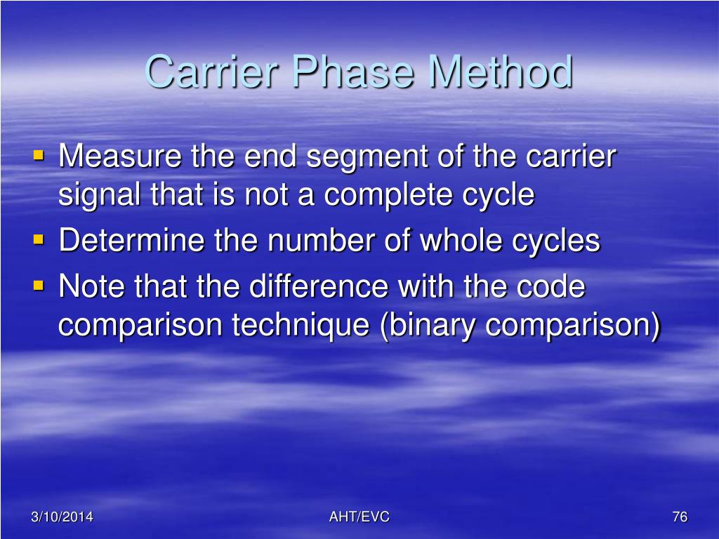 Carrier Phase Method