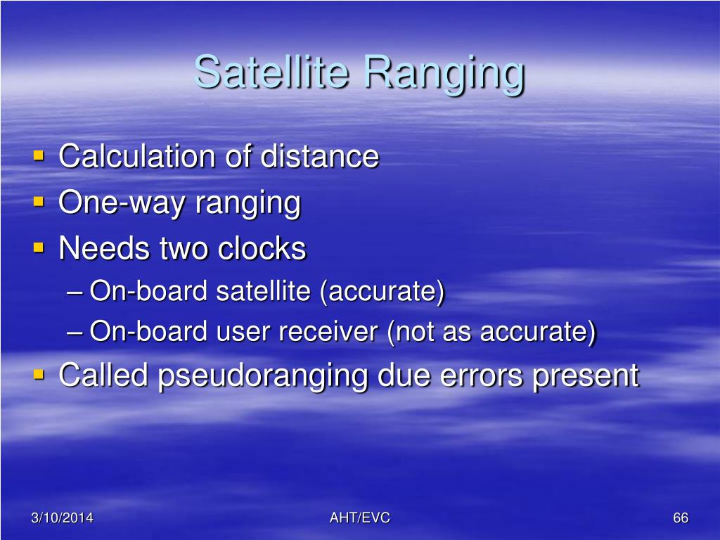 Satellite Ranging