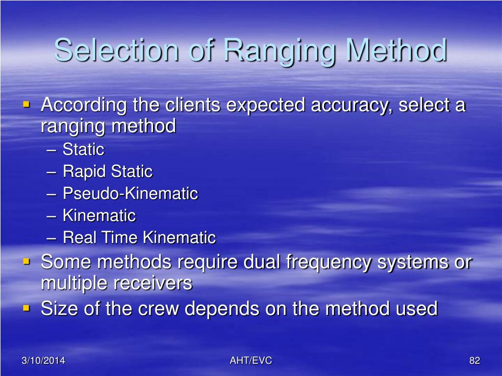 Selection of Ranging Method