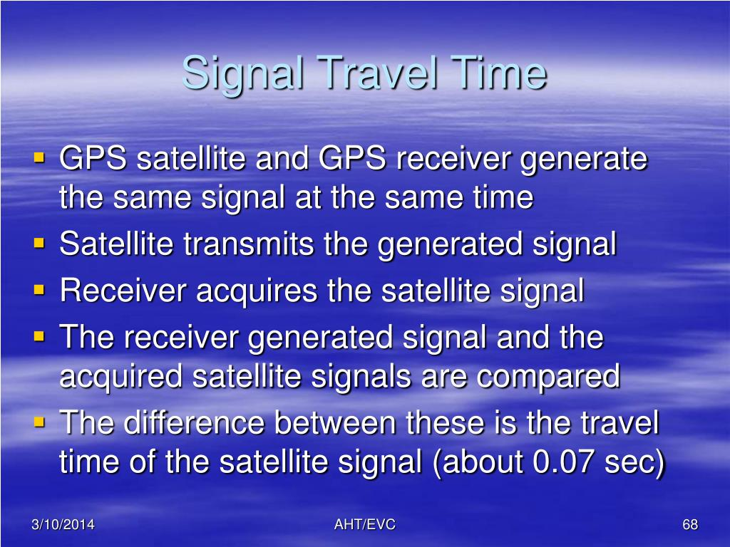 Signal Travel Time