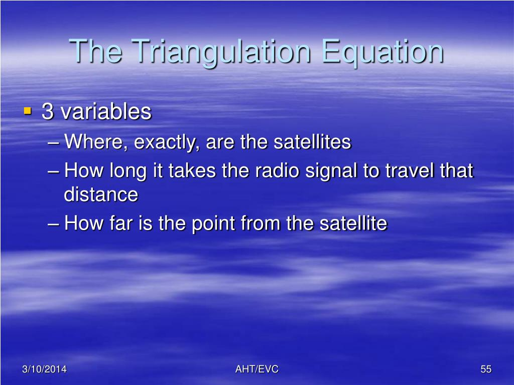 The Triangulation Equation