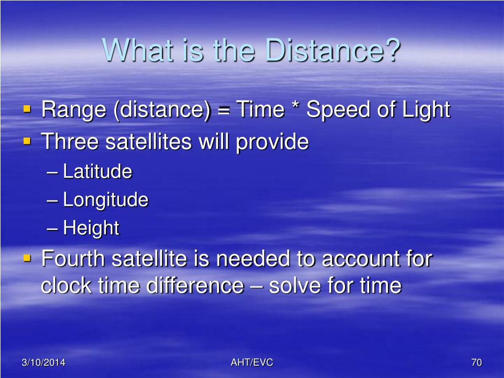 What is the Distance?