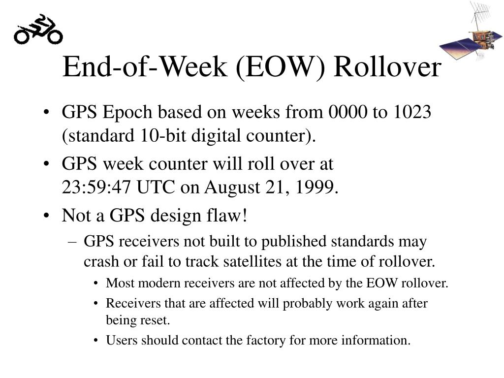 End-of-Week (EOW) Rollover