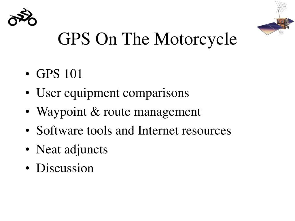 GPS On The Motorcycle