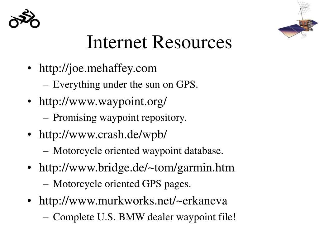 Internet Resources