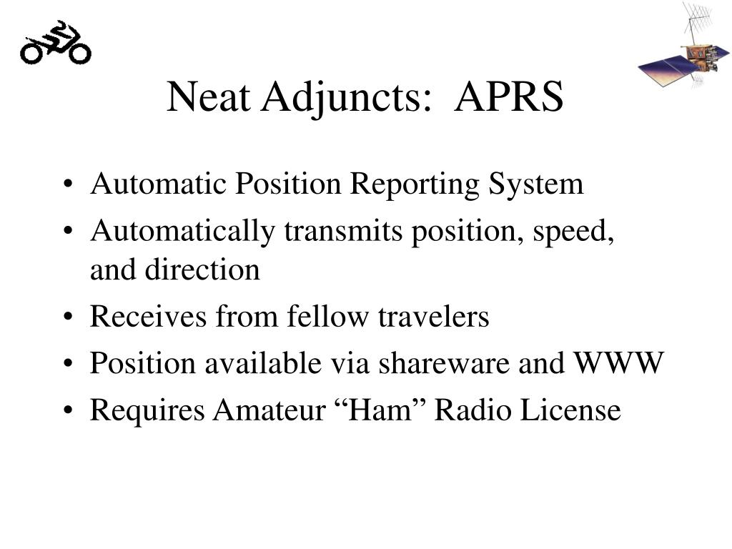 Neat Adjuncts:  APRS