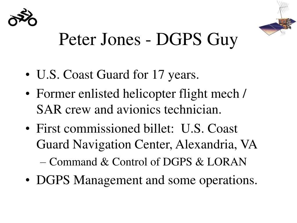 Peter Jones - DGPS Guy