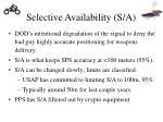 selective availability s a