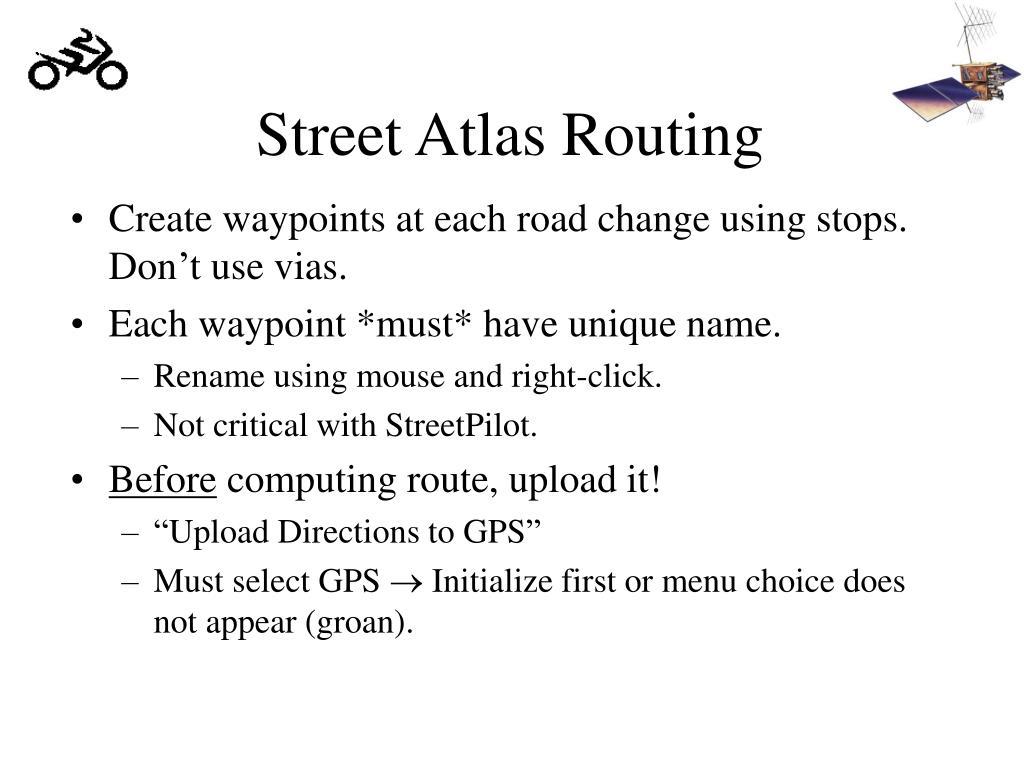 Street Atlas Routing