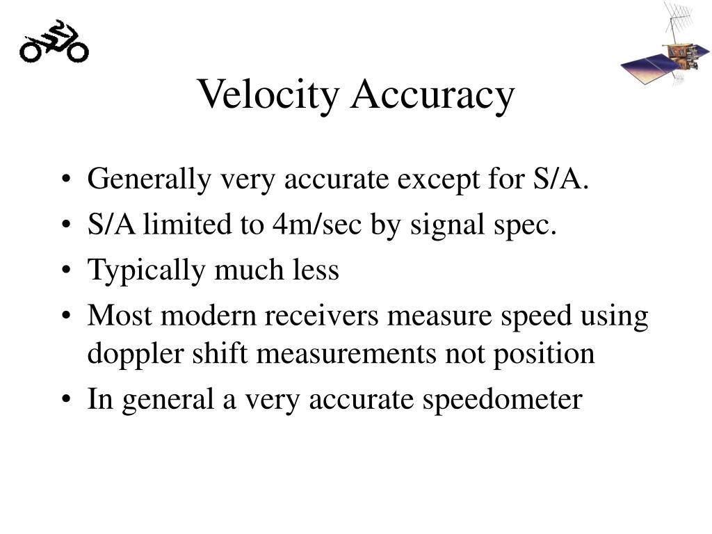 Velocity Accuracy