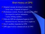 brief history of gps