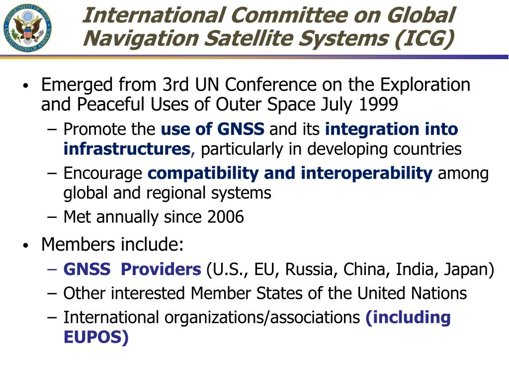 International Committee on Global Navigation Satellite Systems (ICG)