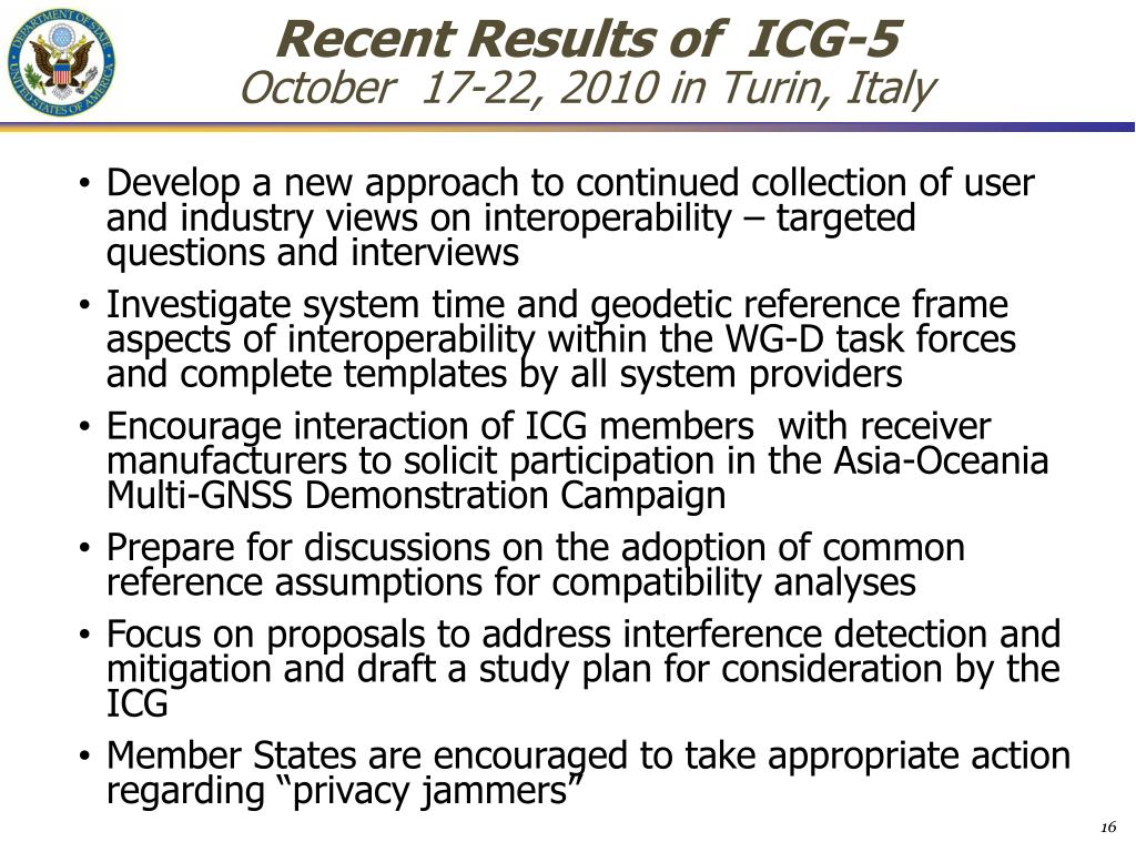 Recent Results of  ICG-5