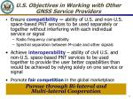 u s objectives in working with other gnss service providers
