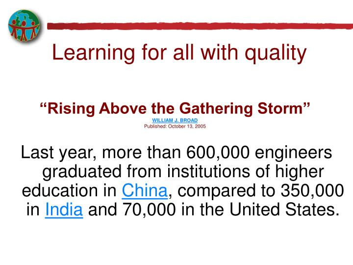 """""""Rising Above the Gathering Storm"""""""