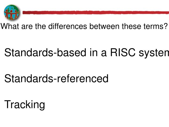 What are the differences between these terms?
