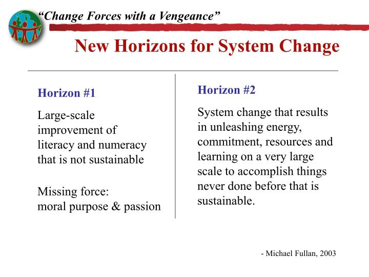 """""""Change Forces with a Vengeance"""""""