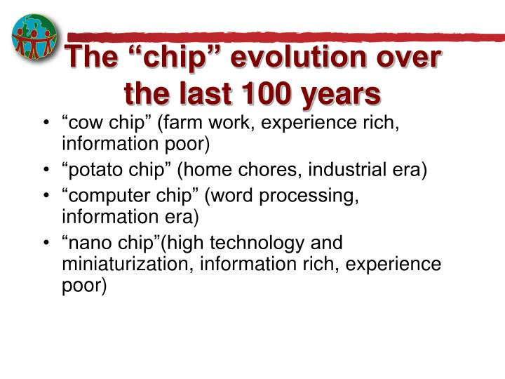 """The """"chip"""" evolution over the last 100 years"""