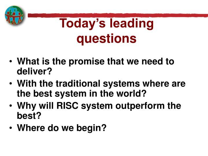 Today's leading questions