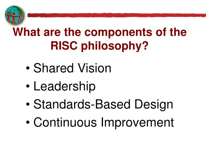 What are the components of the RISC philosophy?