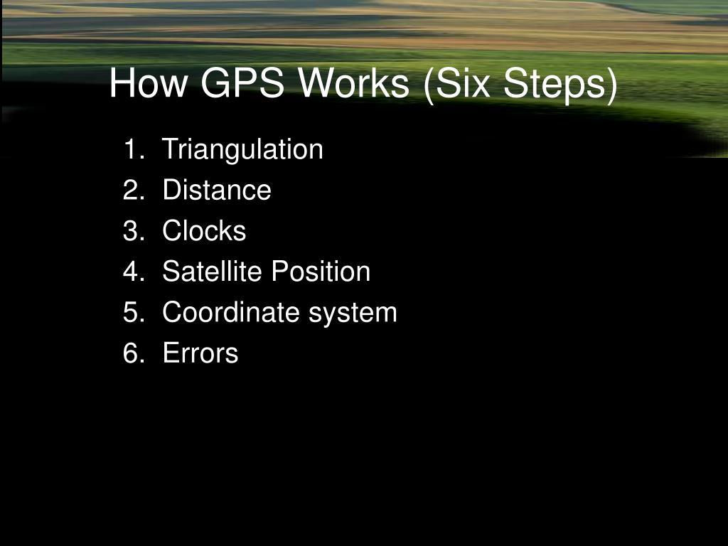 How GPS Works (Six Steps)