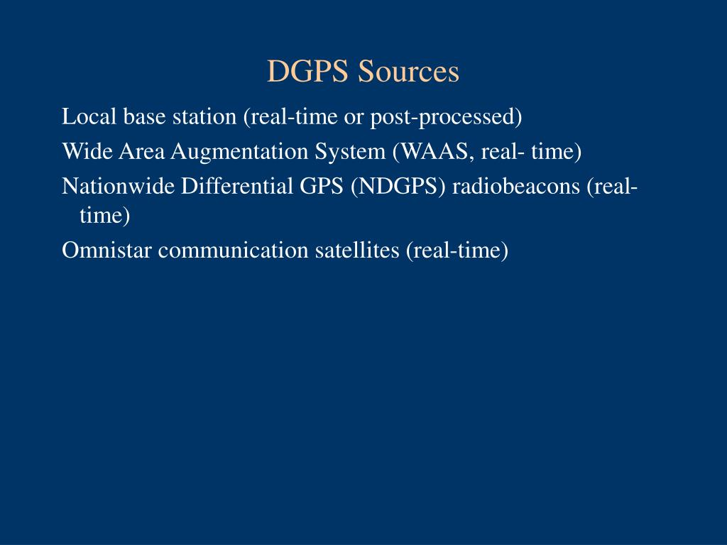 DGPS Sources