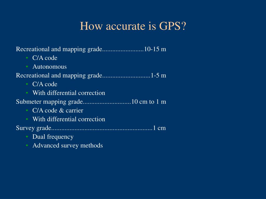 How accurate is GPS?