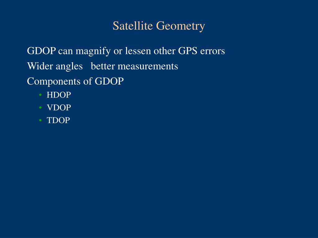 Satellite Geometry