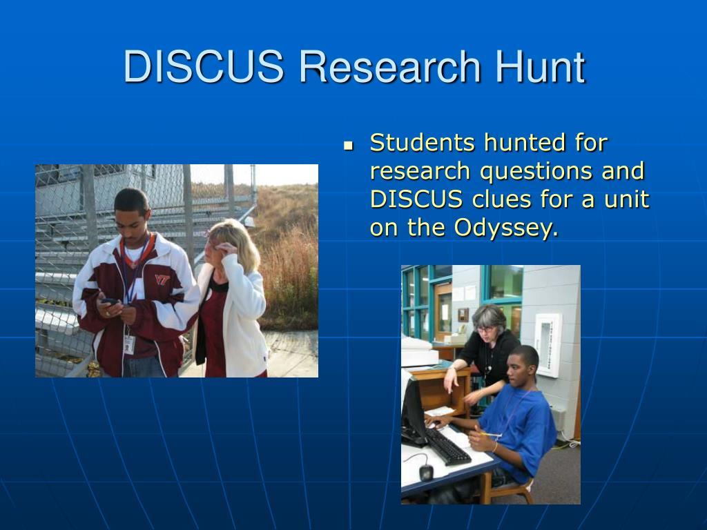 DISCUS Research Hunt