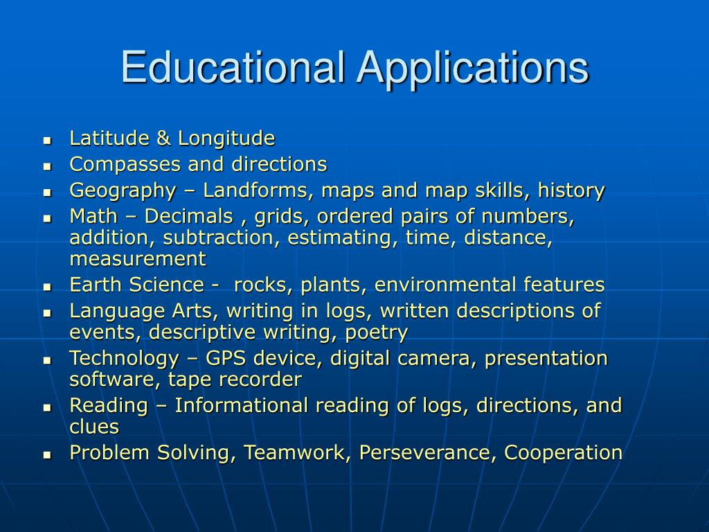 Educational Applications