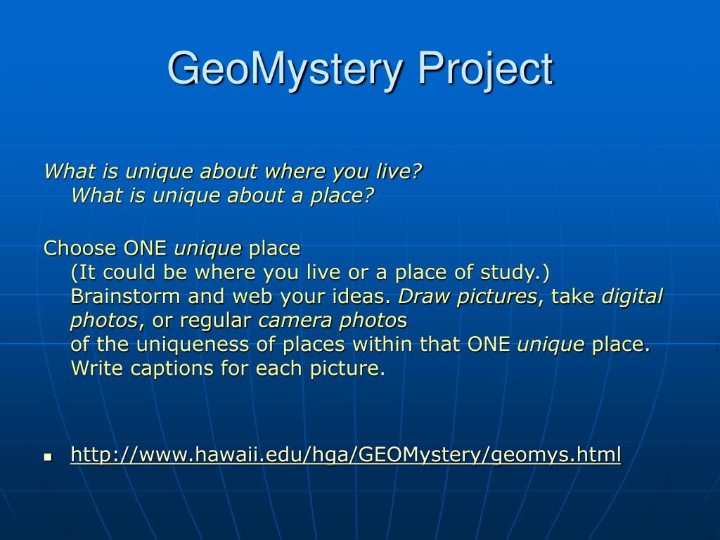 GeoMystery Project