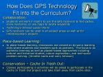 how does gps technology fit into the curriculum