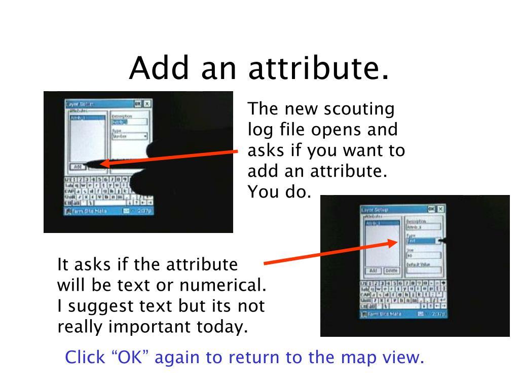 Add an attribute.