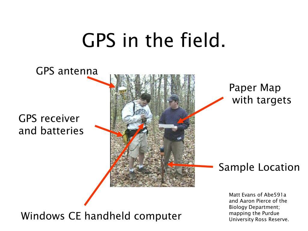 GPS in the field.